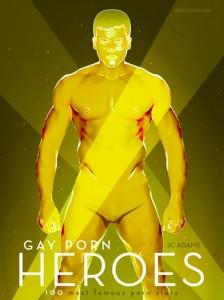 'Gay Porn Heroes'-book-cover-Gmunder-Adams