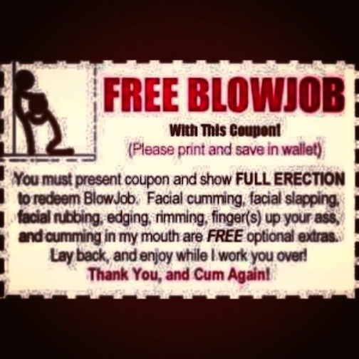 Blow job for free