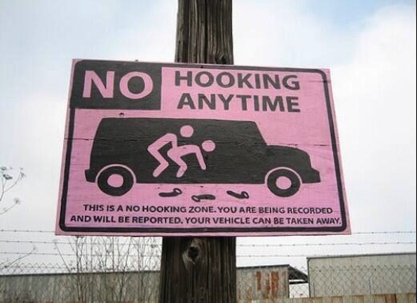 Signage-No-Hooking-Anytime