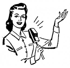 Radio-woman-clip-art